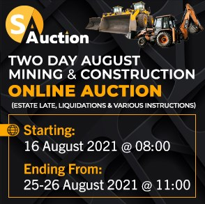 Two Day August Mining & Construction Online Auction