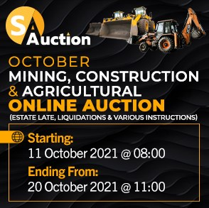 October Mining, Construction & Agricultural Online Auction
