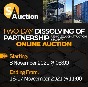 Two Day Dissolving of Partnership Online Auction