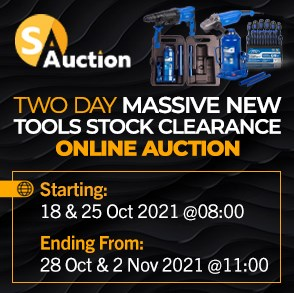 Two Day Massive New Tools Stock Clearance Online Auction