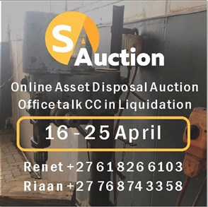 Online Asset Disposal Auction - Office Talk CC in Liquidation & Loose Assets