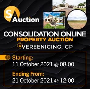 Consolidation Online Property Auction - Vereeniging