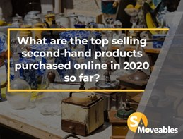 What are the top selling second-hand products purchased online in 2020 so far?