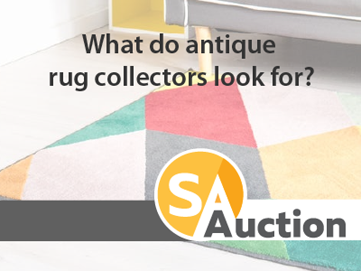 What do antique rug collectors look for?