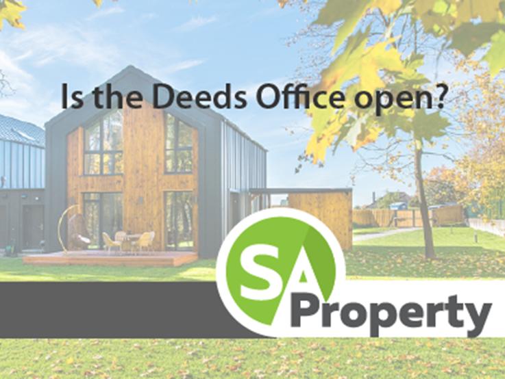 Is the Deeds Office open?