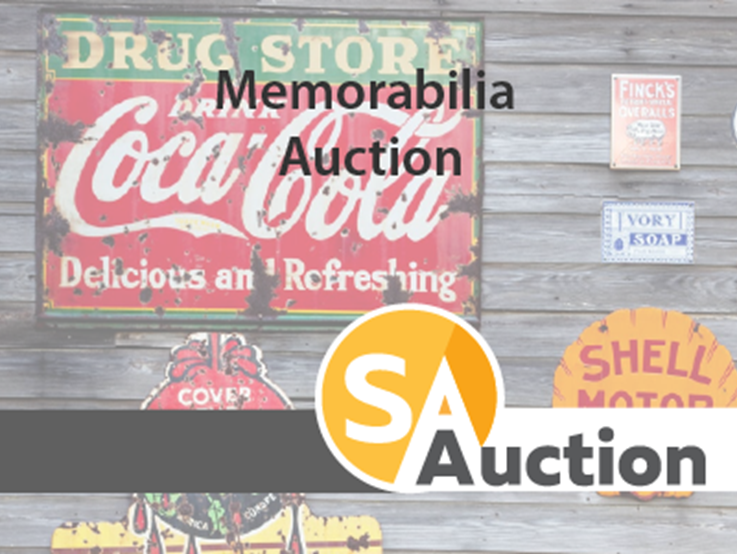 Which memorabilia auction has recently made the news?