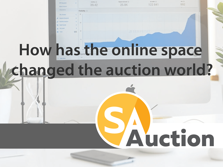 How has the online space changed the auction world?