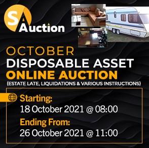 October Disposable Asset Online Auction
