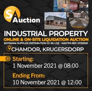 Industrial Property Online & On-Site Liquidation Auction - Chamdor, Krugersdorp