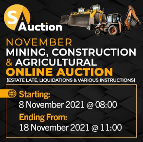 November Mining, Construction & Agricultural Online Auction