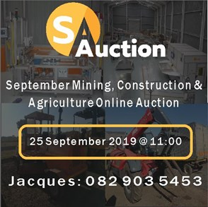 SEPTEMBER MINING, CONSTRUCTION & AGRICULTURE ONLINE AUCTION