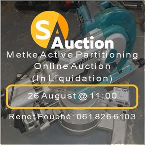 METKE ACTIVE PARTITIONING ONLINE AUCTION (IN LIQUIDATION)