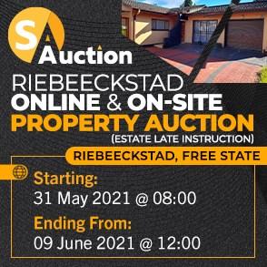 Riebeeckstad Property Auction