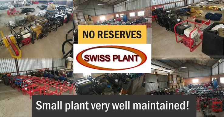 Day 1 - Swiss Plant Total Voluntary Closure Online Auction - NO RESERVES