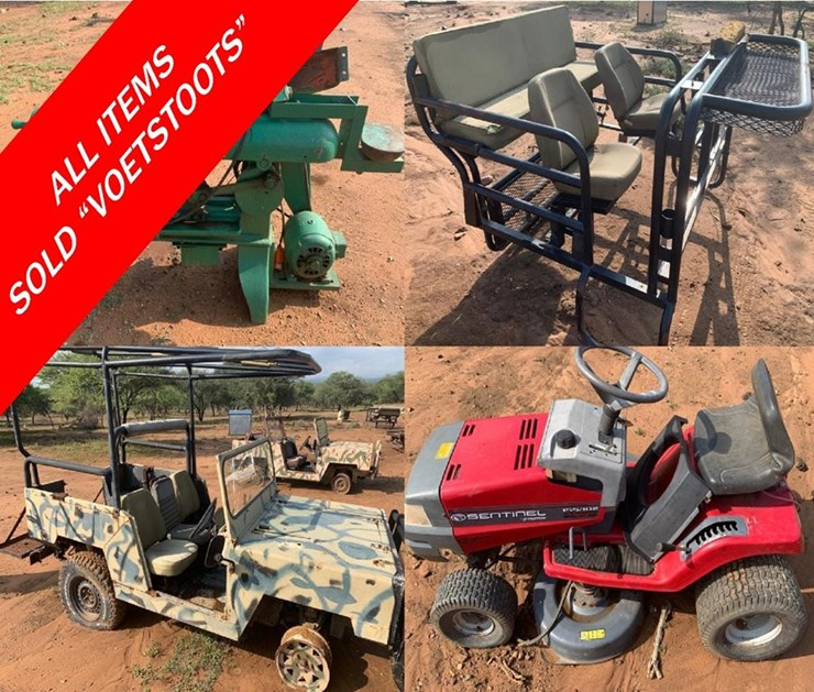 DAY 1 - MARCH MOVABLES & AGRI ONLINE AUCTION:  VARIOUS INSTRUCTIONS