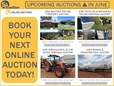 UPCOMING AUCTIONS IN JUNE