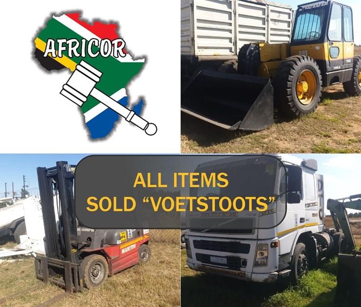 MASSIVE MINING LIQUIDATION ONLINE AUCTION I.A.W. AFRICOR AUCTIONEERS (EJS, IMF & MKULU CIVILS)