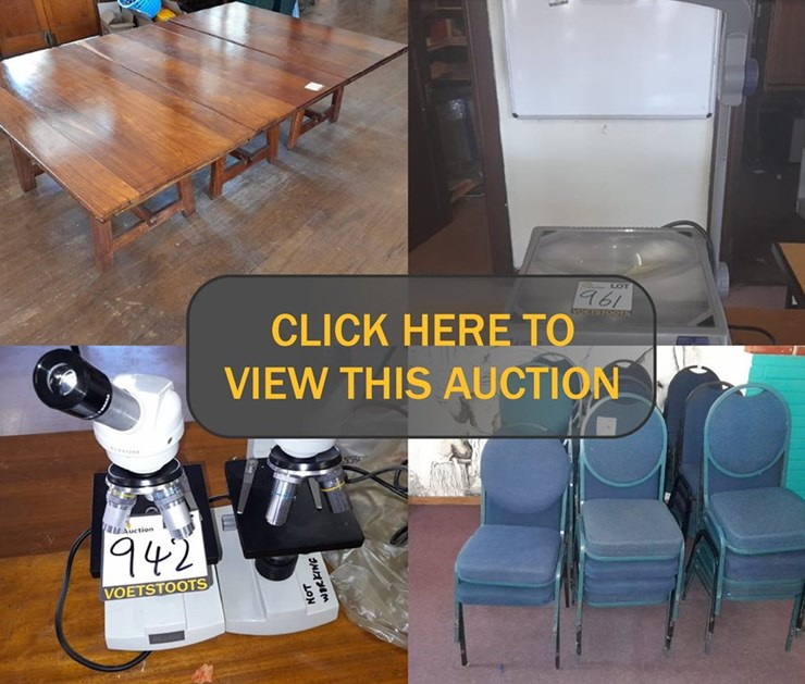 DAY 6 - 6 DAY LIQUIDATION ONLINE AUCTION (BISHOP BAVIN SCHOOL) (MASTER REF: G577/2020)